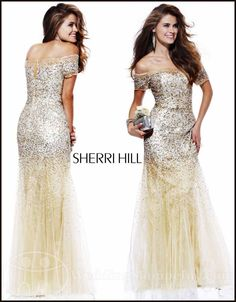 Sherri Hill Prom Dresses 2012: Celebrities Love Sherri Hill Dresses, and So Do We...Off the Shoulder Sherri Hill Dresses: Sherri Hill 2861