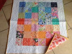 Honey honey charm baby quilt, loved making this one. Quilted on my Pfaff expression 4