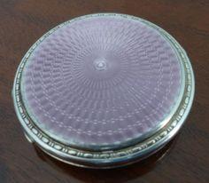 1928 Hallmarked Sterling Silver Lilac Guilloche by Decofanatique, $250.00