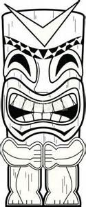 Tiki Totem Pole Coloring Pages sketch template