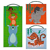 The Jungle Book Canvas Wall Hanging Set....more decor for my Disney (future) babies(plural?)