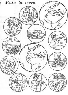 Schede ambiente Earth Day Worksheets, Earth Day Activities, Kids Learning Activities, Kindergarten Activities, Science Activities, Preschool Crafts, Teaching Kids, Earth Day Coloring Pages, School Coloring Pages