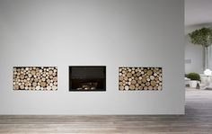 You might consider it a secondary feature when the fireplace is involved, but the right firewood organizer can steal the show. Check out these fireplace Fireplace Art, Country Fireplace, Fireplace Design, Fireplace Showroom, Simple Fireplace, Modern Interior Design, Interior Architecture, Interior And Exterior, My Living Room