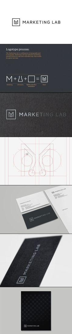 Marketing Lab / logo / identity / brand / package /  crisp / professional / rich / luxury / black and white
