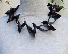 Fiets-verlof necklet Upcycled binnenband ketting door WienerAtelier