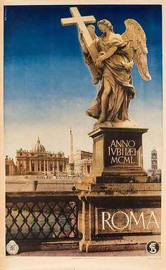 DP Vintage Posters - Roma Anno Jubilaei Original Rome Italy ENIT Travel Poster