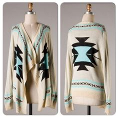 I just discovered this while shopping on Poshmark: This gorgeous Aztec Cardigan is READY TO SHIPNWT. Check it out! Price: $38 Size: S/M and M/L, listed by theglamorama