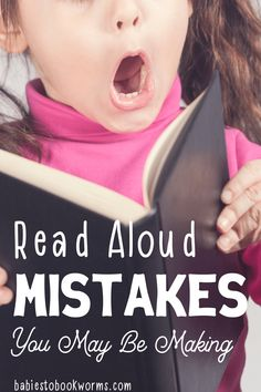 Do you have trouble reading to your kids? Find out how to solve the read aloud mistakes you may be making! #readaloud #reading #parenting #readingtokids #education Practical Parenting, Gentle Parenting, Parenting Tips, Kids And Parenting, Learning Sites, Learning Cards, How To Read More, Wordless Picture Books, Kindergarten