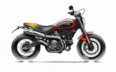 """At the end of the first day of Intermot Ducati has finally unveiled its all-new Scrambler. Described by the Italian manufacturer as a """"post-heritage"""" design, the Scrambler is a contemporary take on a bike built by Ducati back in the and Ducati Scrambler Urban Enduro, Scrambler Icon, Motorcycle Exhaust, Motorcycle News, New Ducati, Moto Ducati, Bike Sketch, Car Sketch, Lego Kits"""