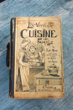 I can be very cheap, well lets say frugal, sounds better. I went to one of those stores selling used items and I bought this book for $1.50. What a treasure!!! Je ne l'aime vraiment la cuisine française vrai .....