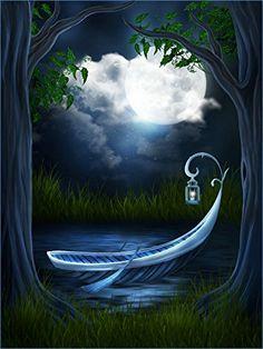 87d70867190 Kate 5x7 Night Sky Backdrop Wonderland Background Jungle Forest Backdrop.  Night Sky MoonPhotography ...