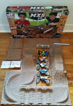 Jakks Pacific MXS Motocross Race Track 16 pc Playset with Box HTF 2011 in Toys & Hobbies, Diecast & Toy Vehicles, Motorcycles & ATVs   eBay