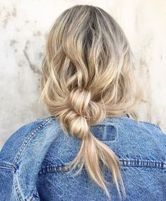 effortless knotted bun