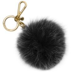 Michael Michael Kors Extra Large Fur Pom Key Charm ($27) ❤ liked on Polyvore featuring accessories, pom pom key chain, fur pom pom key chain, michael kors, key chain charms and key charm