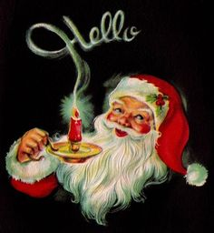 Vintage Santa with Candle