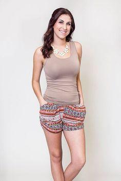 Honey and Lace : San Onofre Harem Short Harem Shorts, Boho Shorts, Cute Wedges, Rocks, Honey, My Style, Stylish, Tees, T Shirts