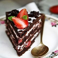 Chocolate Cake with Strawberry Creme Filling