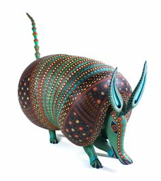 Oaxacan Woodcarvings Jacobo Angeles Armadillo