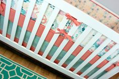 Crib Bedding, Baby Bedding, Coral Mint Crib Set, Ocean Underwater Pink Peach Nursery on Etsy, $40.00