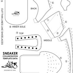 how to make paper shoes templates - nike air force 1 de shin tanaka gift packages paper