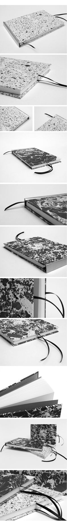 Silver-spine Suminagashi Books on Behance