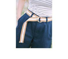 ストライプリングバックルベルト | レディース・ガールズファッション通販サイト - STYLENANDA