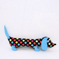 {polka-dot plush doxie}