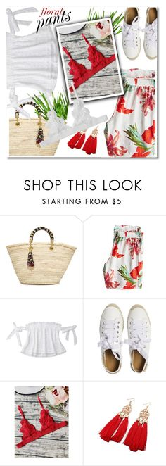 """Floral pants"" by paculi ❤ liked on Polyvore featuring Giselle, Calypso St. Barth, Matt Bernson, StreetStyle, Summer, casual and ruffledtops"