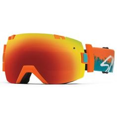 Smith Mens Snow Goggle IOX Orange Kook Red Sol X Mirror