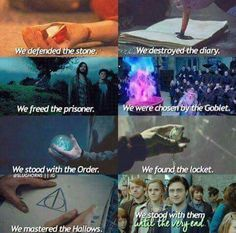 We are with Harry until the very end and we are the Harry Potter generation
