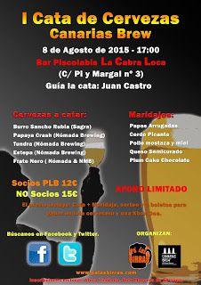 Pa' Las Birras: Cata CanariasBrew en el Piscolabis La Cabra Loca