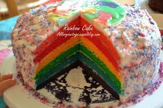 Rainbow Cake (sans protéines de lait animal, sans soja)