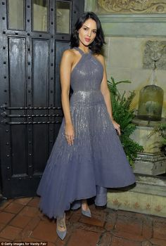 Couture queen: Eiza Gonzalez dazzled at the Phantom Thread fete at the Chateau Marmont on Wednesday
