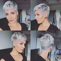 Bekijk hier 10 super gave korte Pixie looks voor dames met grijs haar! - Kapsels voor haar