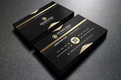Gold And Black Business Card by designsoul14 on @creativework247