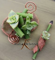 Succulent Boutonnieres  www.tablescapesbydesign.com https://www.facebook.com/pages/Tablescapes-By-Design/129811416695