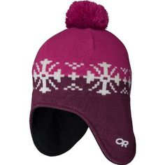Outdoor Research Girls' Frosty Earflap Hat (Trillium/Zin, Medium/Large) by Outdoor Research. $27.90. A warm wool and acrylic blend with a soft WINDSTOPPER® earband keeps kids warm and comfortable without putting a damper on their fun.