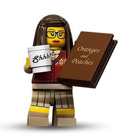 Lego Librarian - We have made it into the toy world. Can you create a Librarian from your existing Lego sets? Lego Minifigure, Librarian Humor, Sexy Librarian, Librarian Style, Lego People, Library Displays, Warrior Princess, Library Books, Library Week