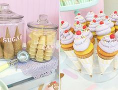 Vintage Ice Cream Parlor Party by Minted and Vintage   Dessert Stand Rentals ~ Los Angeles, California