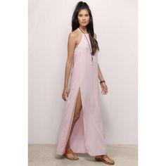 Tobi Slit Second Maxi Dress (104.210 COP) ❤ liked on Polyvore