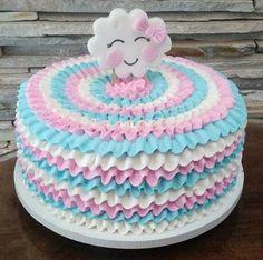 Baby Cakes, Baby Shower Cakes, Baby Birthday Cakes, Cake Icing, Buttercream Cake, Fondant Cakes, Cupcake Cakes, Pretty Cakes, Beautiful Cakes