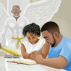 A man and woman who pray for each other should be HAY Online Relationships goals. Black Couple Art, Black Love Couples, Black Love Art, Black Girl Art, My Black Is Beautiful, Beautiful Life, African American Art, African Art, Couples Chrétiens