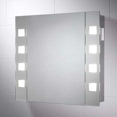 Pyrus LED Illuminated Bathroom Cabinet Mirror with Shaver Socket