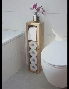 Attraktiv **Toilettenpapierhalter, Toilettenpapierständer, Klopapierhalter, H/B/T  65/16