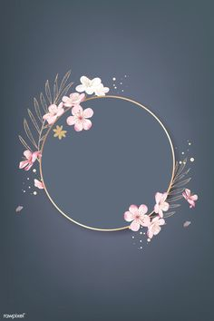Round cherry blossom frame vector premium image by rawpixel com wan cherry blossom watercolor clip art spring flowerflowers clip etsy Flower Background Wallpaper, Framed Wallpaper, Background Vintage, Flower Backgrounds, Background Patterns, Wallpaper Backgrounds, Cherry Blossom Background, Cherry Blossom Wallpaper, Pretty Backgrounds