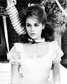 """Jane Fonda in """"Cat Ballou"""" (1965). Academy Award Best Supporting Actor performance by the fantastic Lee Marvin."""