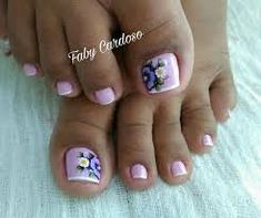 Imagen relacionada Toe Nail Art, Toe Nails, Pink Nails, French Pedicure, Manicure E Pedicure, Pretty Nail Art, Pretty Toes, Life Size Barbie, Pretty Pedicures
