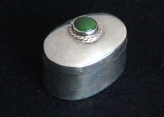 Sterling Silver Pill / Trinket Box made in by MayberryGraphics