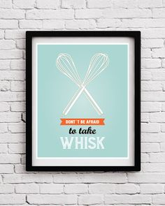 Retro Funny Kitchen Art Print,Whisk Quote Poster, Kitchen Art, Kitchen Print, Funny Kitchen Decor, Kitchen Art Sign, Kitchen Posters, Retro by BlackPelican
