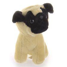 Cute Animal Plush Stuffed Pug Dog Doll Toy Kids Birthday Gift 20cm